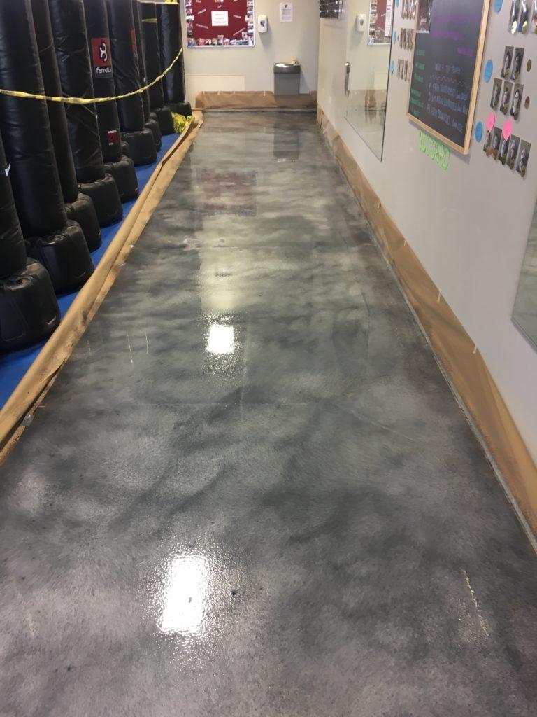 Concrete staining garage revolutiongarage revolution for Garage ad stains