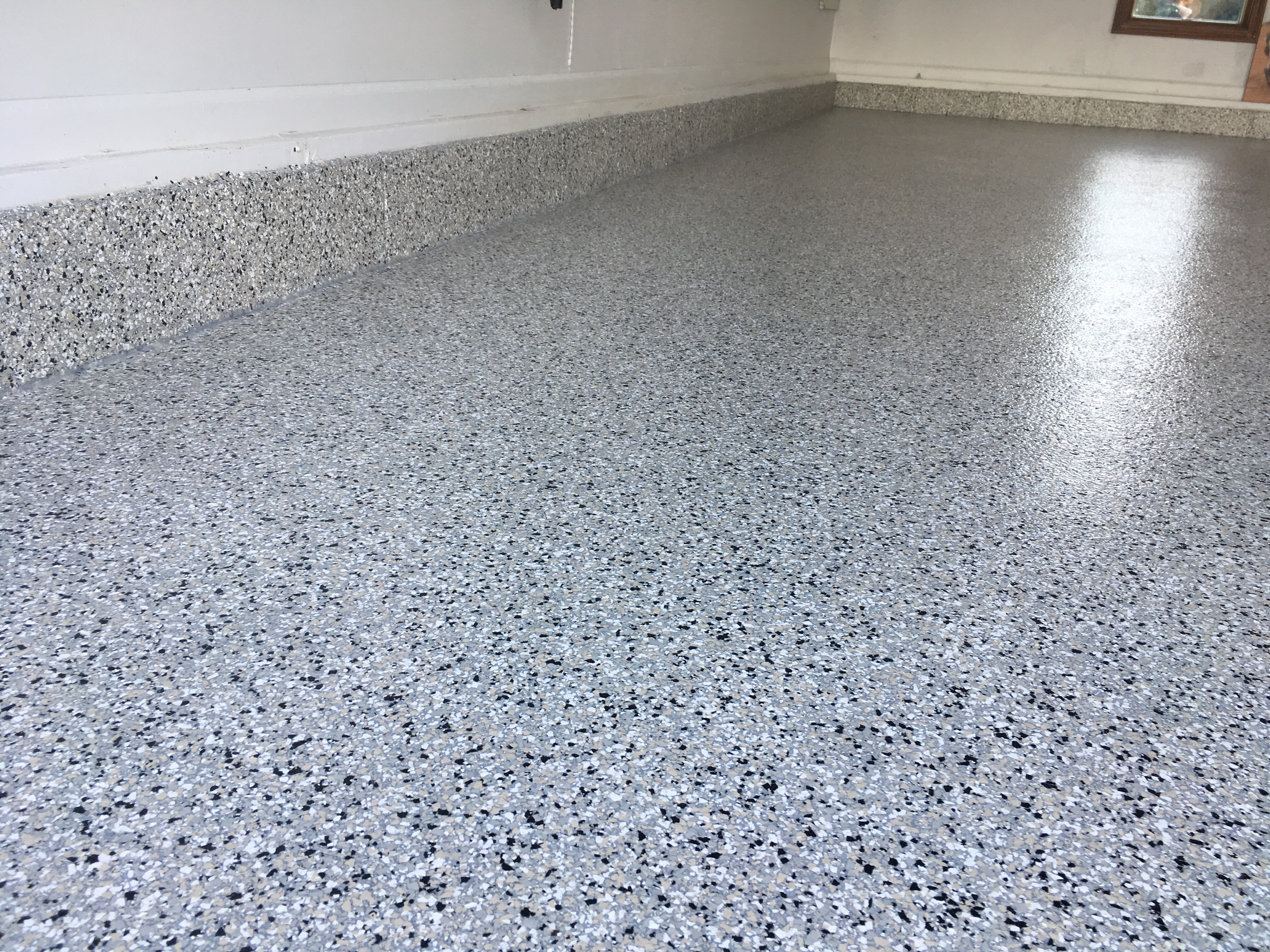 Then We Applied A 100% Solids Epoxy With Moisture Barrier,