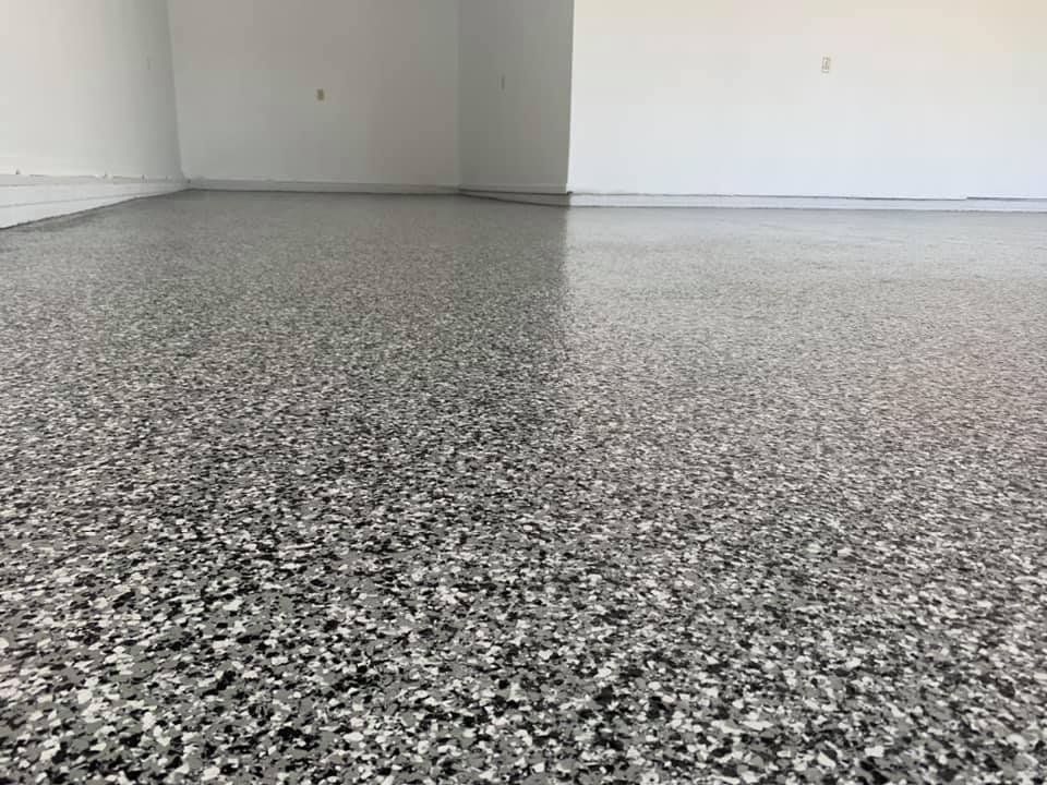 tuxedo flakes, garage floors Omaha